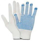 Перчатки х/б 10 класс 4 нити с ПВХ белые