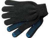 Перчатки х/б 10 класс 4 нити с ПВХ черные