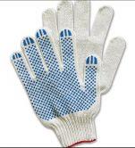 Перчатки хб 10 класс 5 нитей с ПВХ белые