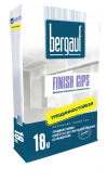 Шпатлёвка Bergauf гипсовая белая Finish Gips 18 кг